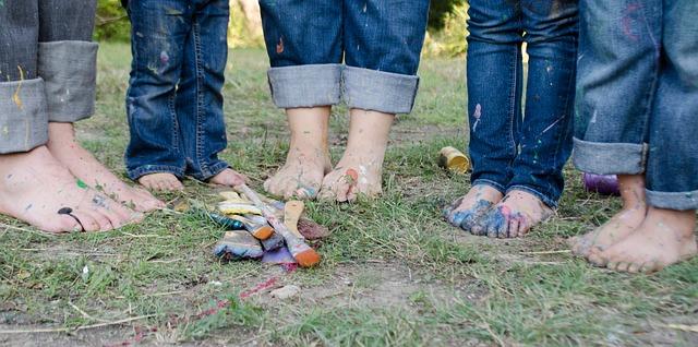 špinavé nohy