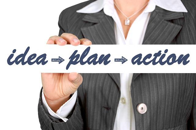 nápad plán akce